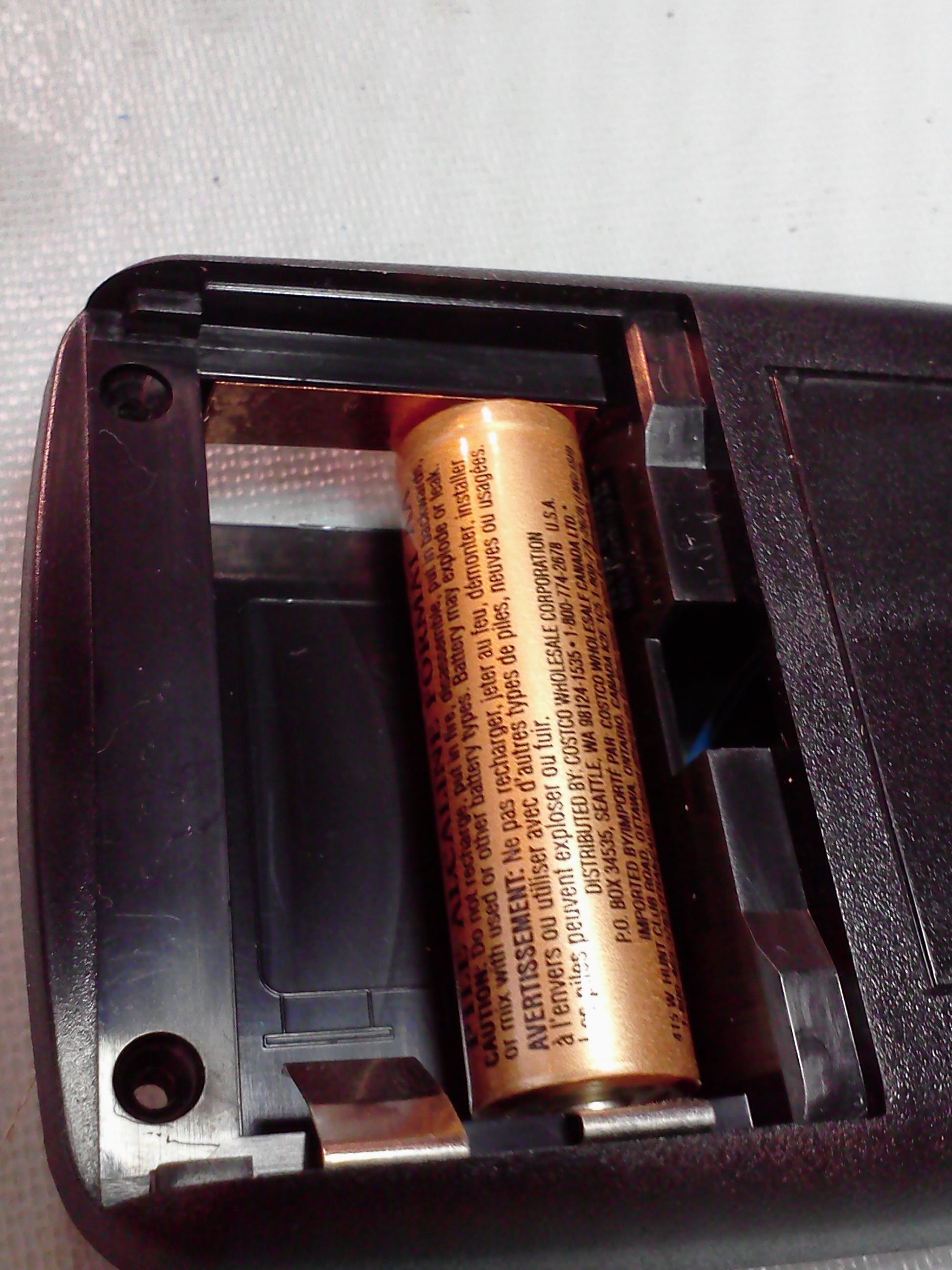 2xAA battery compartment