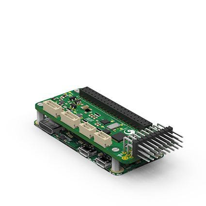 The PXFmini (stands for PixHawk Fire Cape mini), a 69€ autopilot shield for the Raspberry Pi to build robots and drones