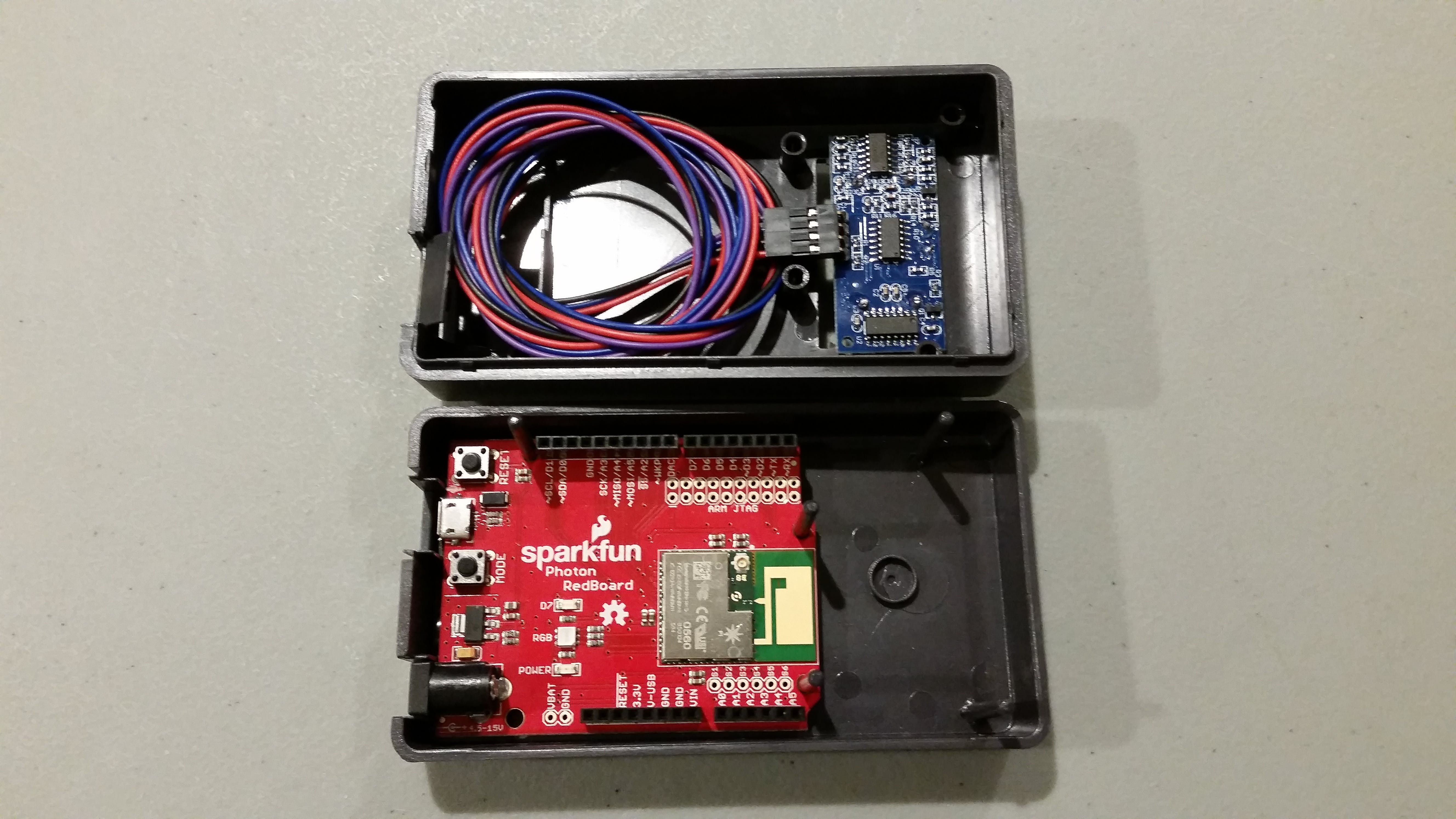 (4 of 5) Fit sensor and secure connectors, fit photon board well