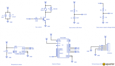 Schematic diagram of the Weather Station with AQI