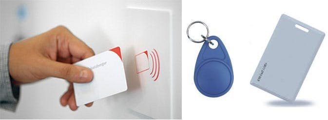 Keychain and Electromagnetic card are commonly used tags