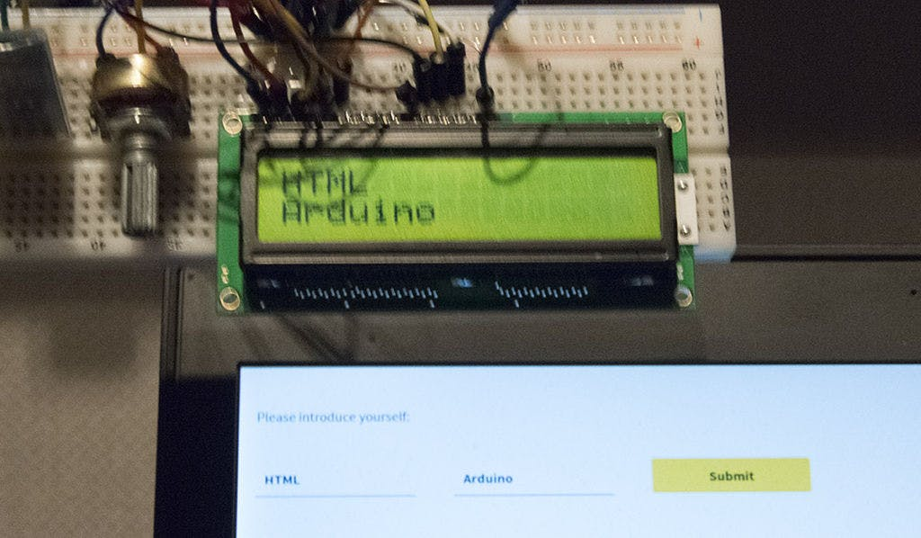 Example with LCD and HTML inputs.