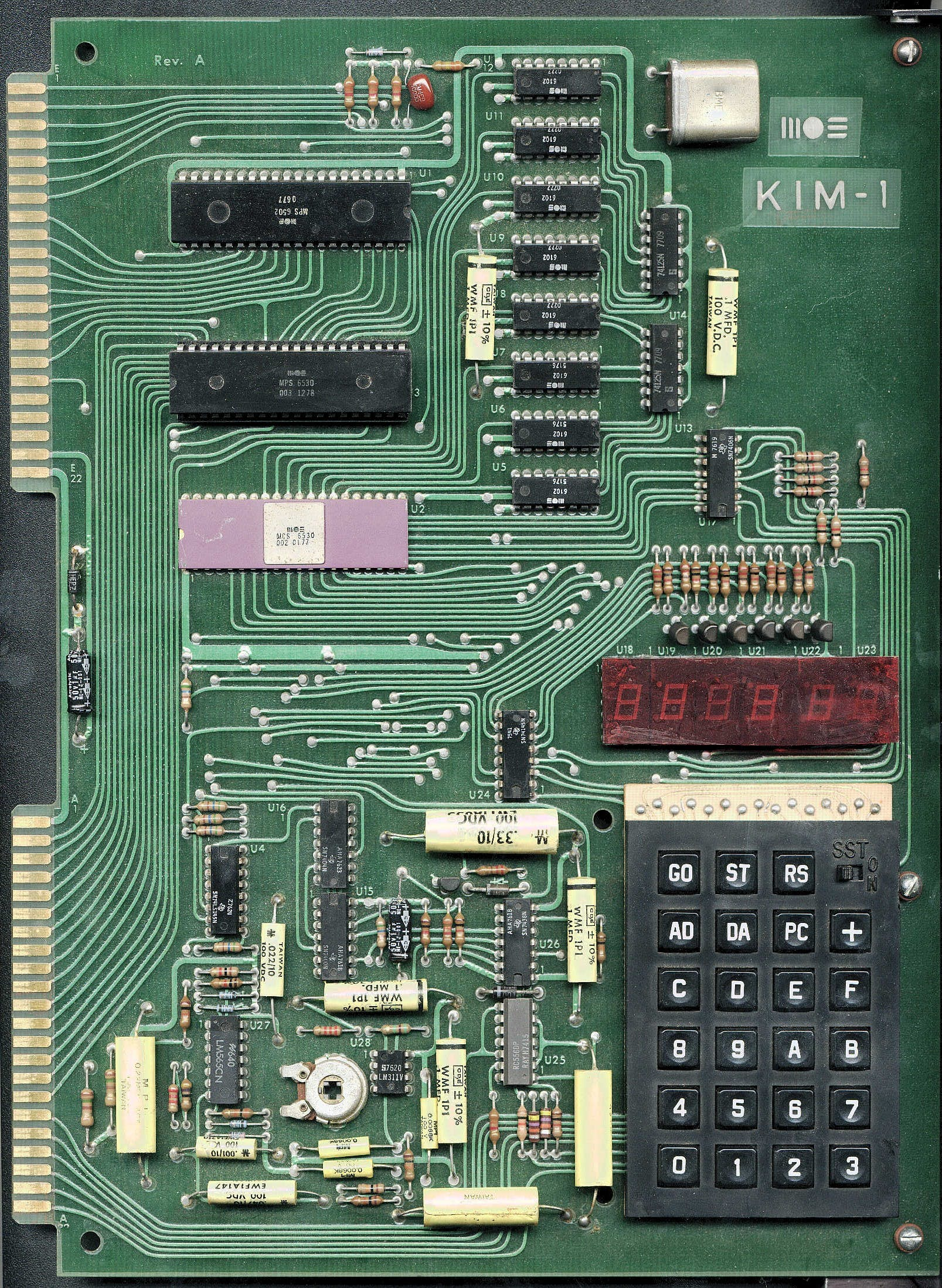 The Real Thing from 1976: KIM-1 Single Board Computer