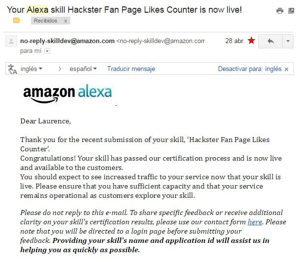 Alexa Hackster Likes Counter - Hackster io