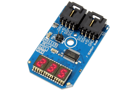 AS1115 3-Character Red LED 7-Segment Hexidecimal Display