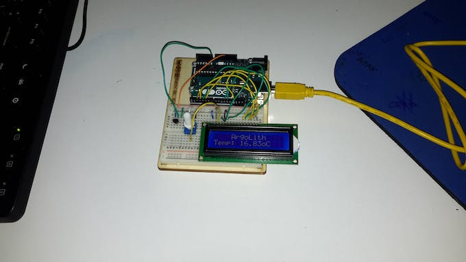 Testing the data logger on LCD screen