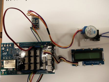 Intel Edison with Hardware plugged in