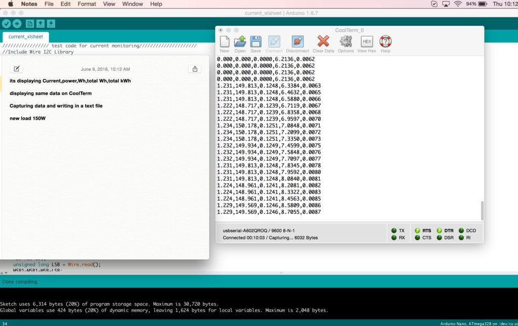 arduino text file save