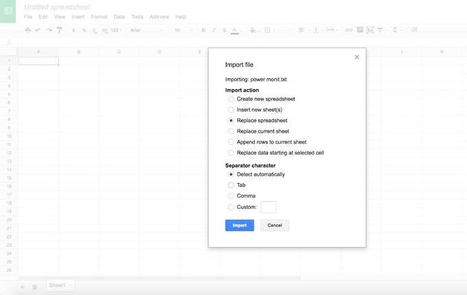 google sheet import arduino