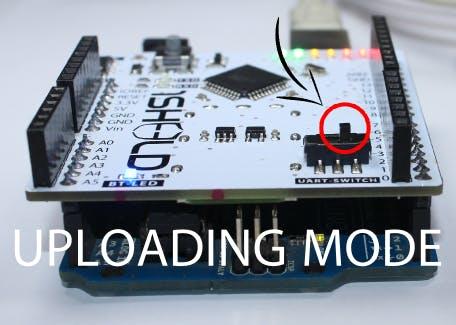 Set 1Sheeld to upload mode when uploading code on Arduino