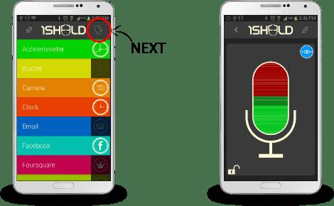 Select multiple shields in 1Sheeld app