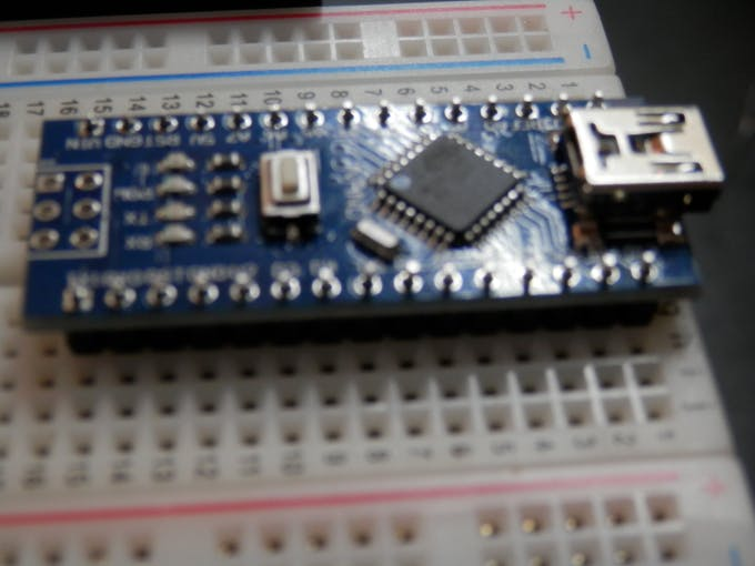 Nano Micro-Controller on headers before soldering