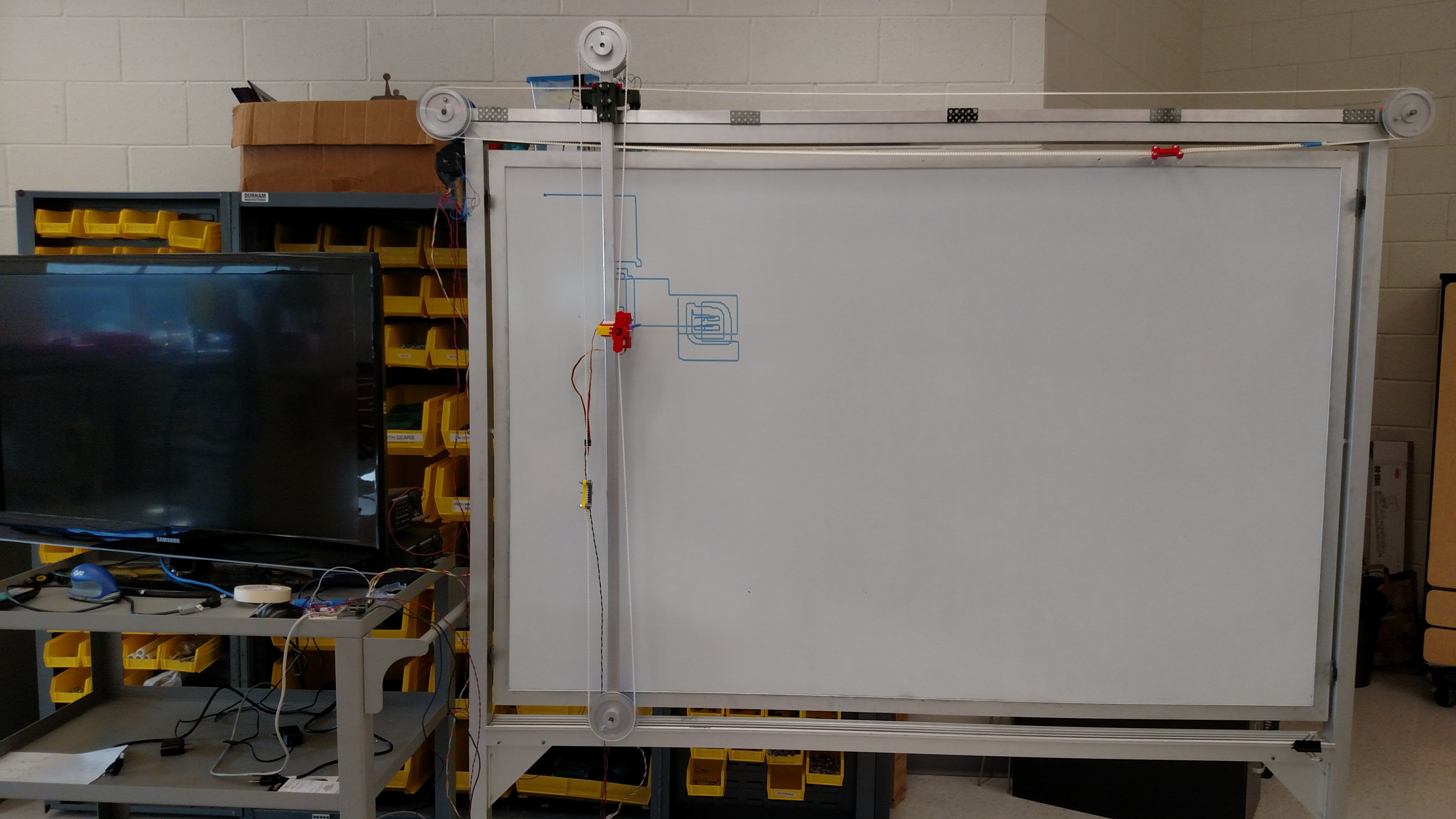 An image of the Etch-A-Whiteboard sketching a test file