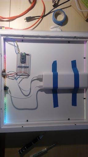 Pro Trinket,Neopixels, Anker Battery Bank,Push button