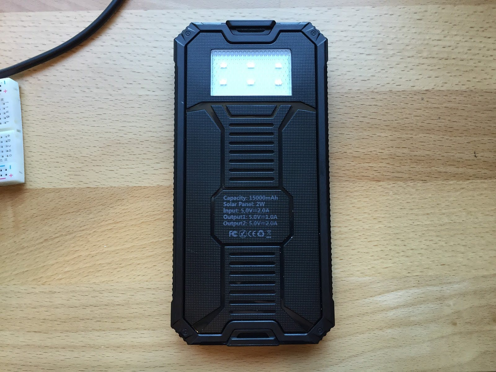 15,000 mAh 5v 2amp external battery