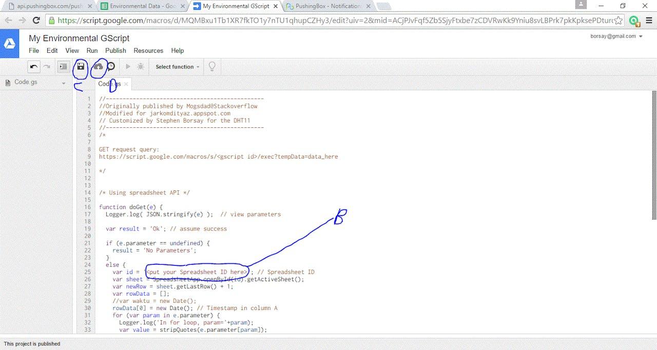 Transmit ESP8266 Data to Google Sheets - Hackster io