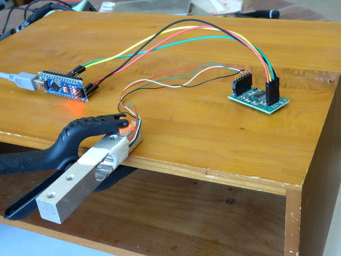 Arduino and visuino measure weight with hx load