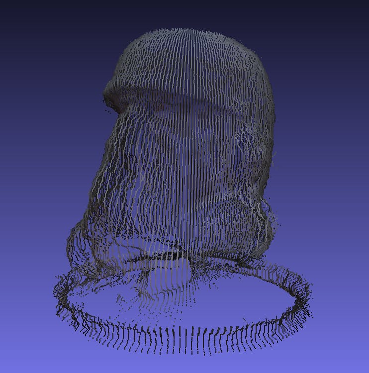 Figure 1: 3D Point Cloud generated using the scanner