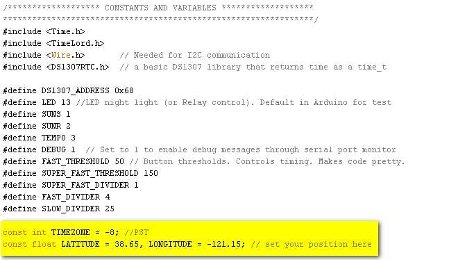 Figure 9 - Code Customization