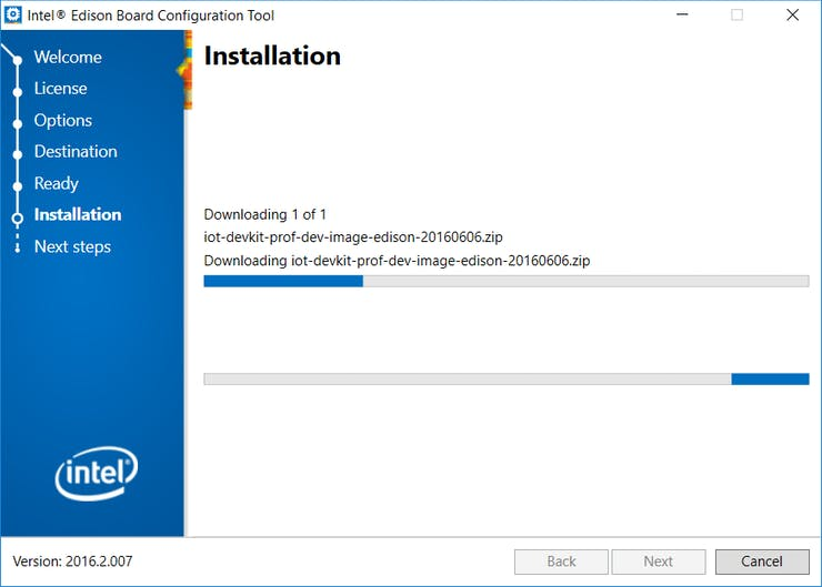 Installation page