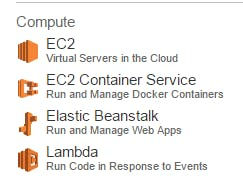 Example of AWS Dashboard Section