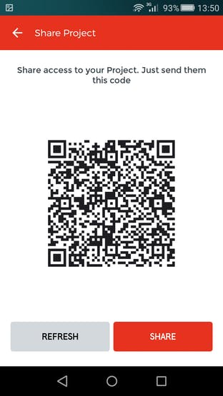 Sharing QR code for our app