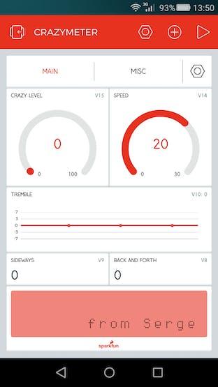 Blynk app in design