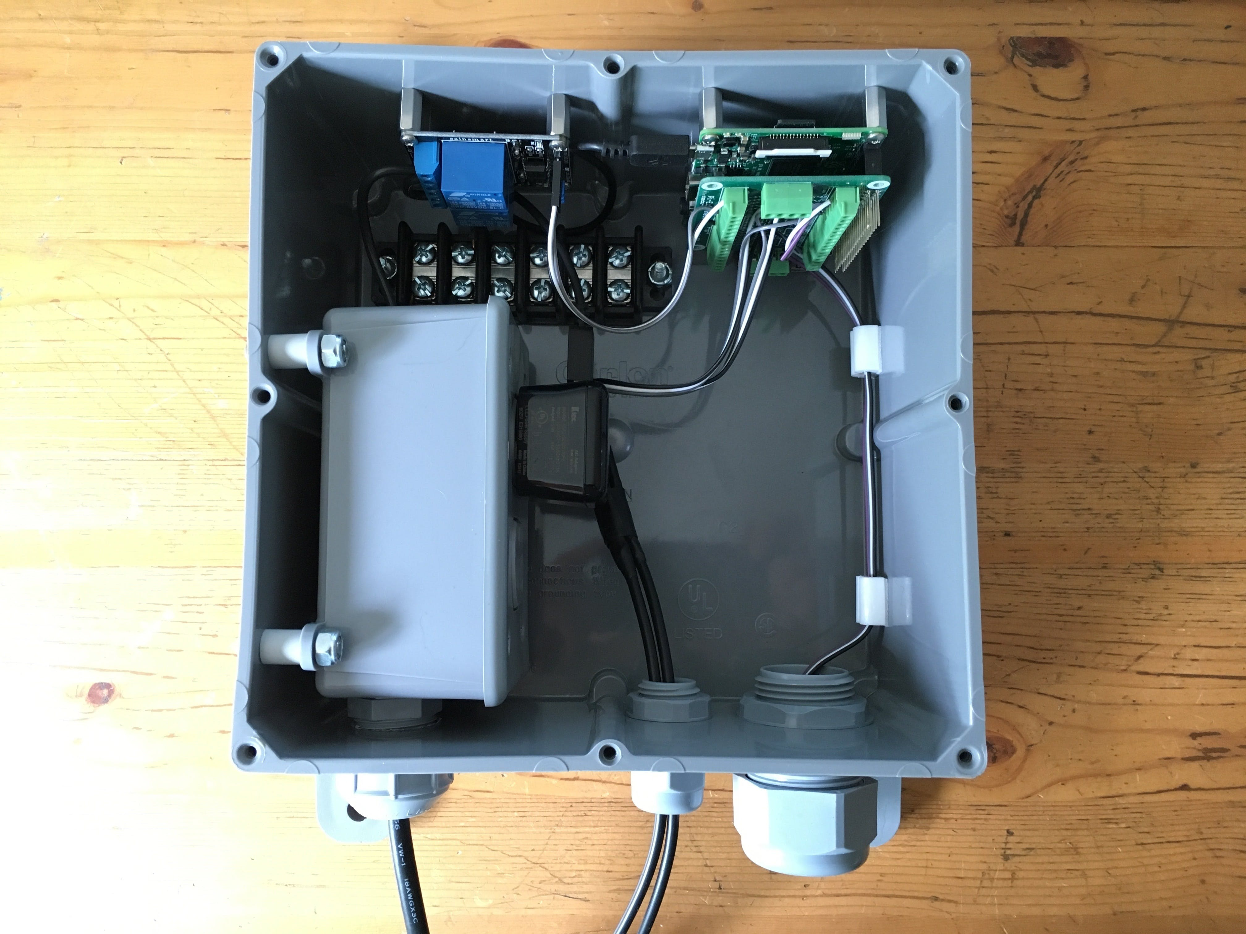 Early interior build of control box