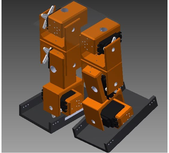 3d design of Biped