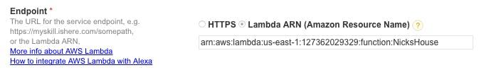 Select Lambda ARN
