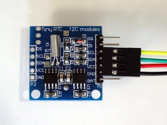 Arduino nano ds real time clock rtc with visuino