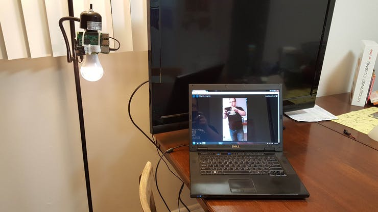lights on with live video stream over wifi