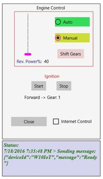 Transmission control through Windows IoT
