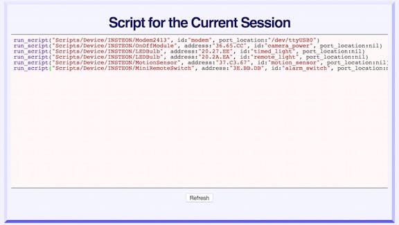 Session Script after Adding INSTEON Devices