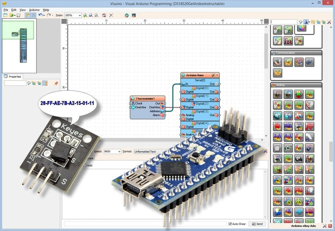 Reading ds s maxim thermometer address arduino