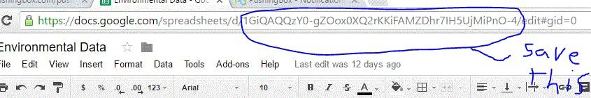 Your Google Sheet unique URL