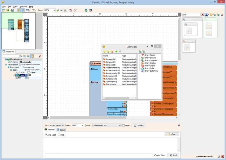 Arduino: Accelerometer Gyroscope Compass MPU9250 I2C Sensor