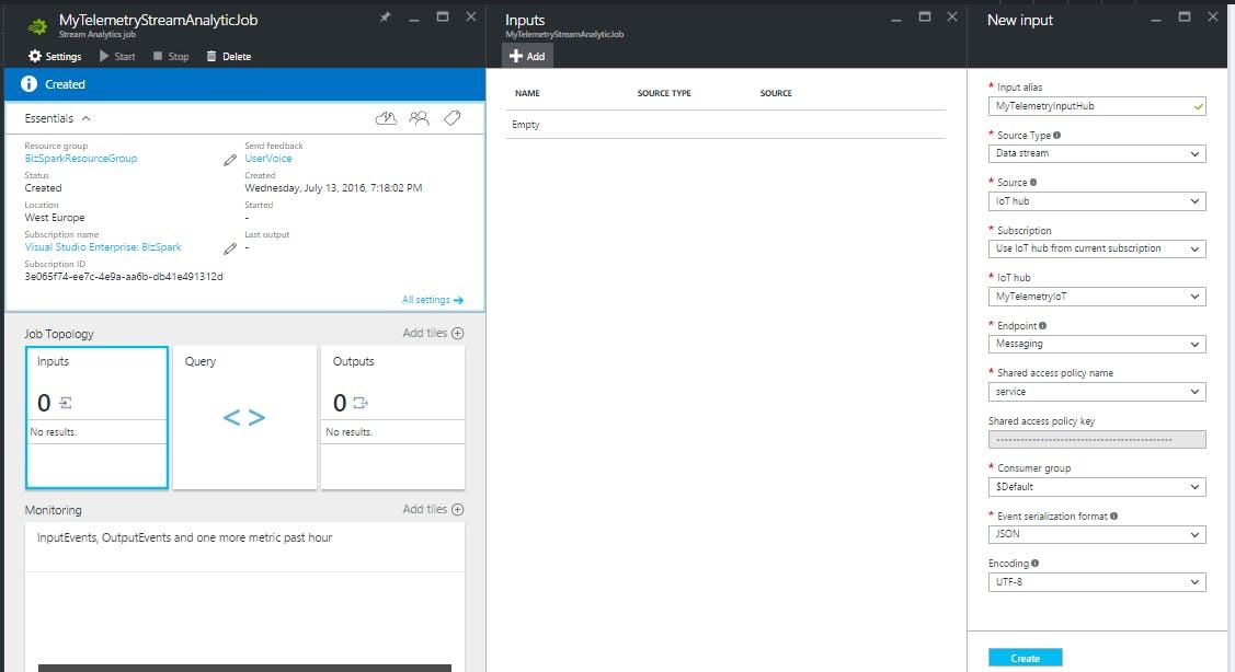 SAJ - input from IoT Hub