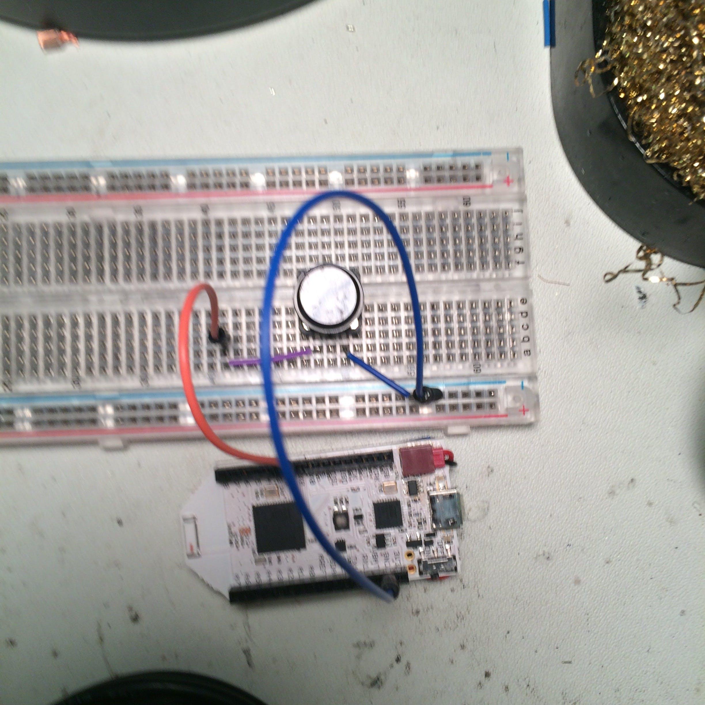Button and Pinoccio board