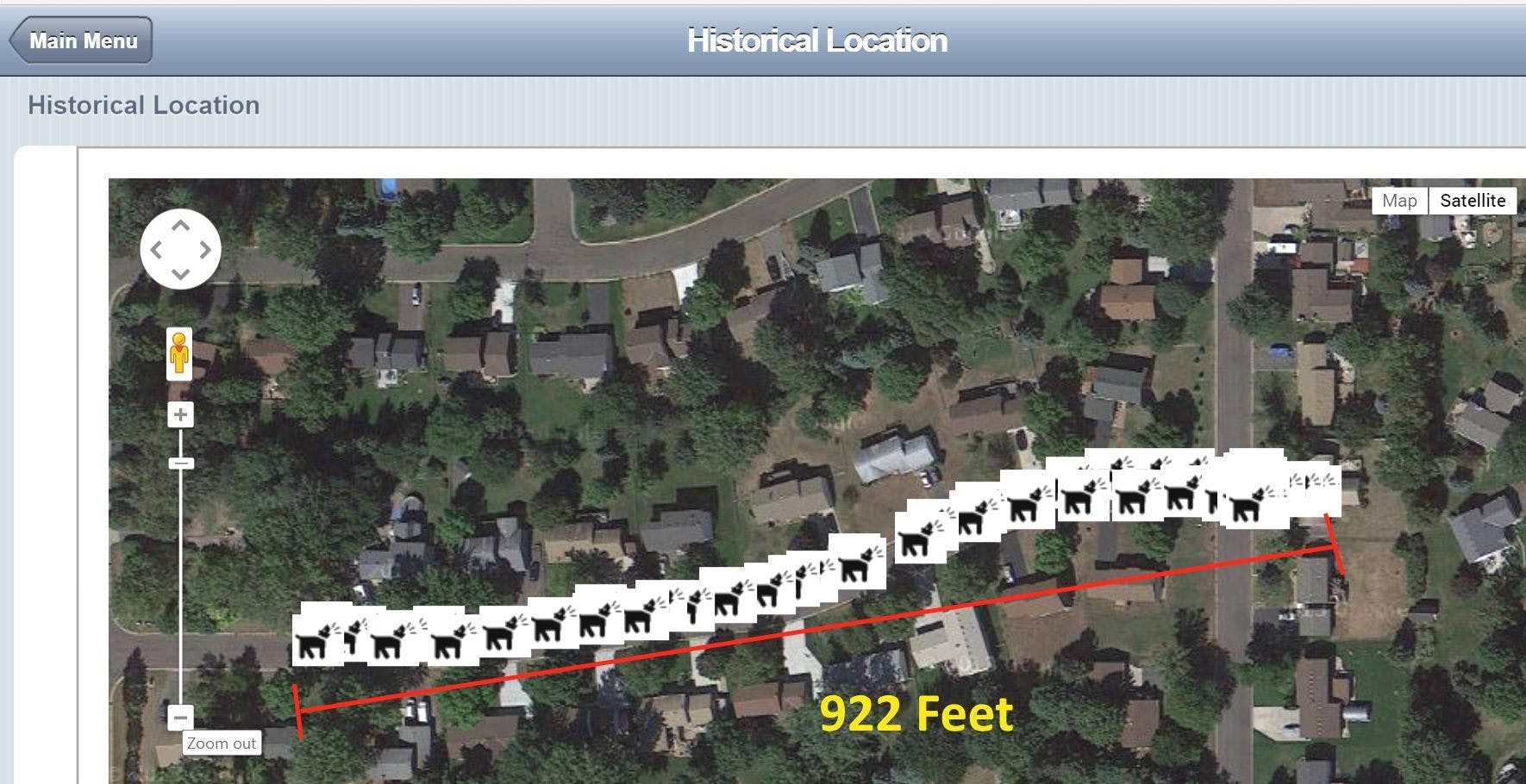 Pretty good range for dog tracking.