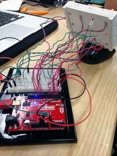 Testing the LED circuit.