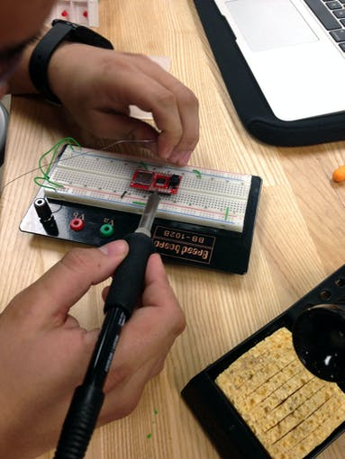 Soldering pins to SD card