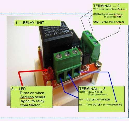 Arduino 5V Relay module (Digital) with Mains Power - Arduino