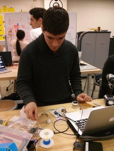 Jose wiring up
