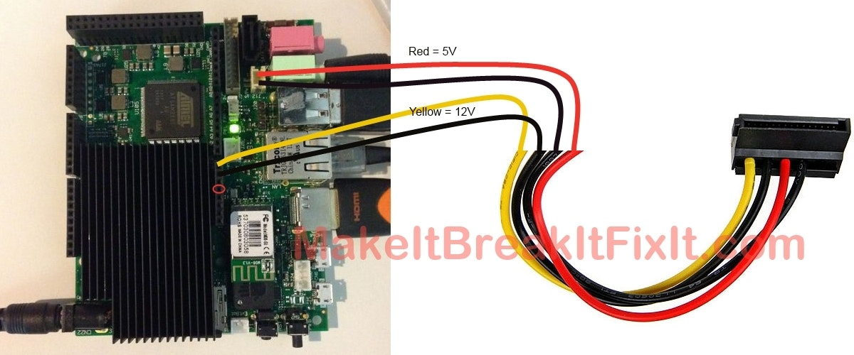 a complete pocket sized udoo media system hackster io rh hackster io SATA Port Diagrams SATA Hard Drive Connection Diagram