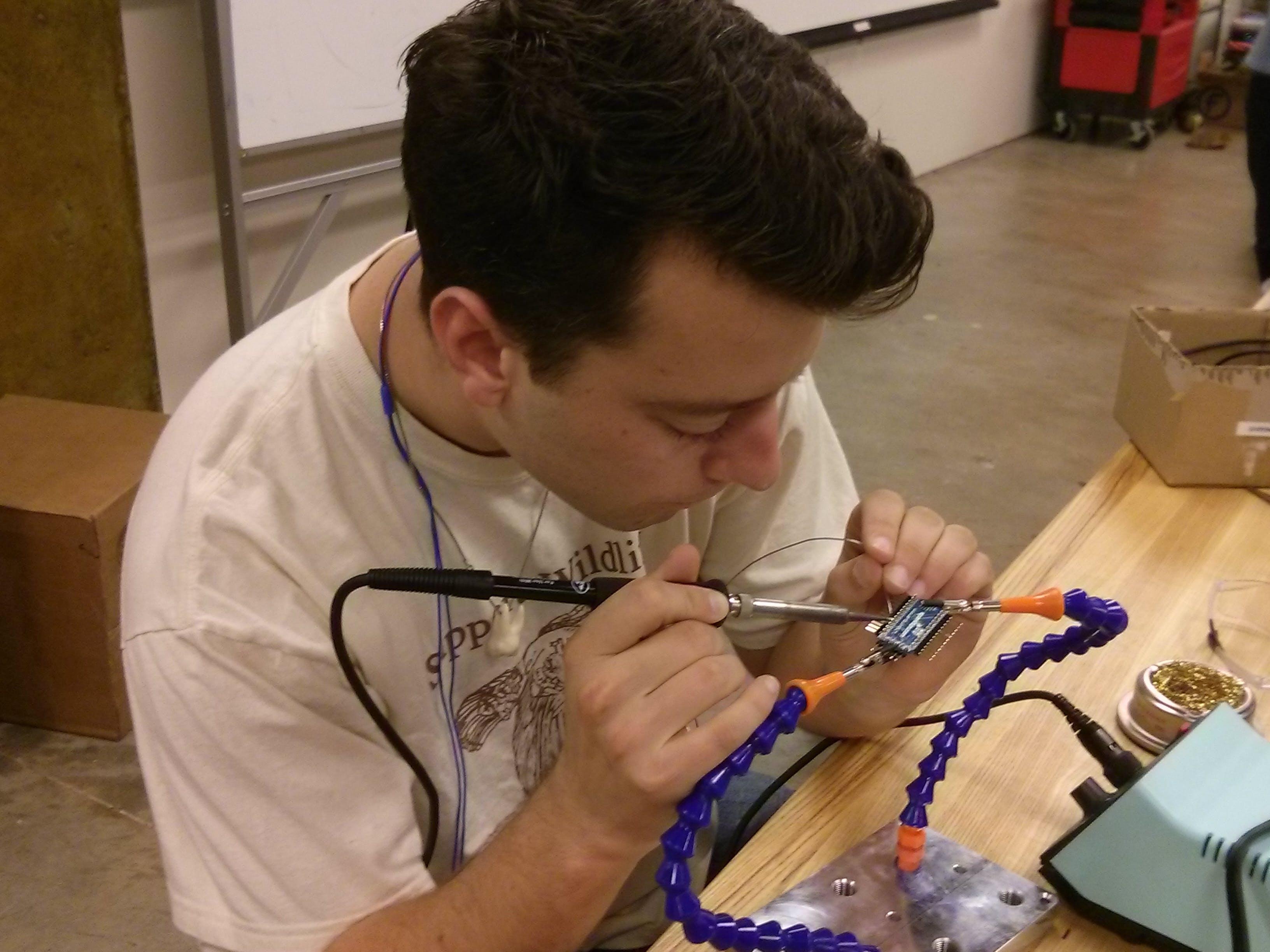 soldering away