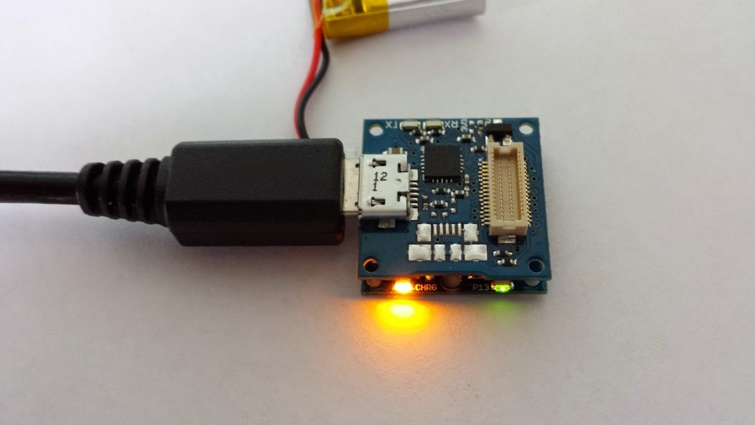 Stack the usb on the TinyDuino