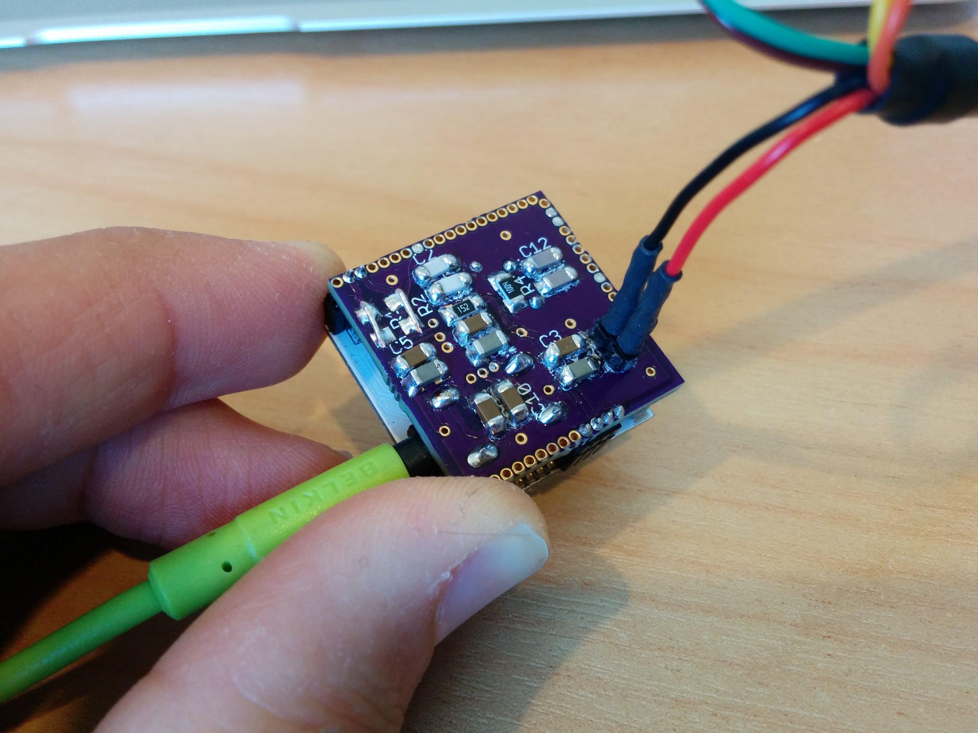 Prototype VoCore audio dock.