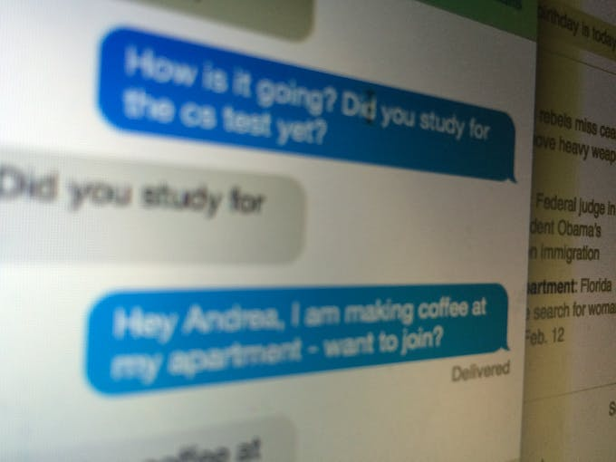 User Testing: Messaging friends for coffee