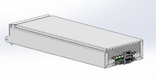 CAD Drawing of the debug card installed